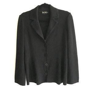 GIORGIO ARMANI Wool Knit Blazer Black XL / 46